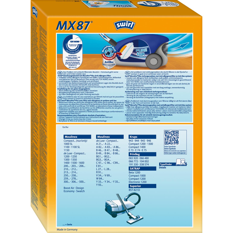 Staubsaugerbeutel SWIRL MX 94